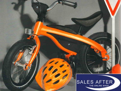 original bmw kidsbike mit helm kids bike orange fahrrad. Black Bedroom Furniture Sets. Home Design Ideas