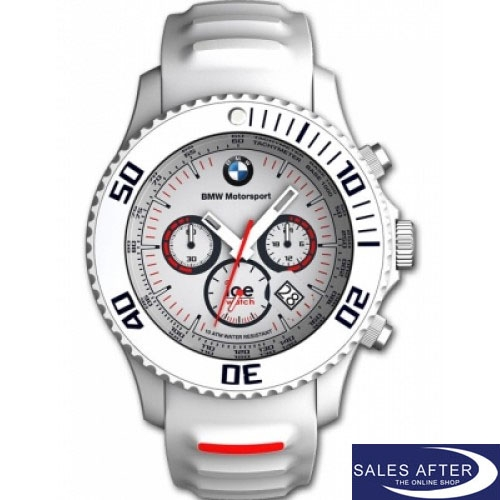 original bmw motorsport ice watch uhr chronograph weiss. Black Bedroom Furniture Sets. Home Design Ideas