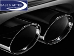 BMW 5 series F07 F10 F11 Exhaust pipe finisher in black chrome, double