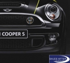MINI R55 R56 R57 R58 R59 Badge for the front grille MULTICOLOR, Cooper S and SD