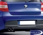 Preview: BMW 1er E87 Auspuffblende Alu-look, 130i