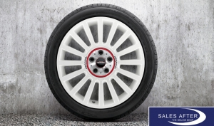 RDC Radsatz MINI F60 JCW Rallye Spoke 536 aspen white + Goodyear