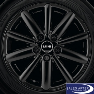 RDC Radsatz MINI F55 F56 F57 Radial Spoke 508 Jet Black + Dunlop