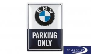 Original BMW Classic Blechschild, Parking Only