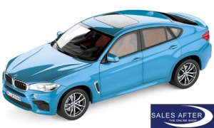 BMW Miniatur X6 M F86 Long Beach Blau, 1:18