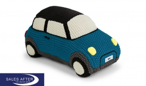 ORIGINAL MINI KNITTED CAR, ISLAND BLUE