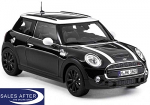 MINI Miniatur F56 Cooper S midnight black, 1:18