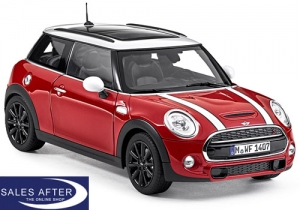 MINI Miniatur F56 Cooper S blazing red, 1:18