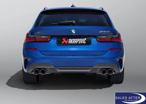 akrapovic slip on line exhaust system g20 g21 m340i with gpf