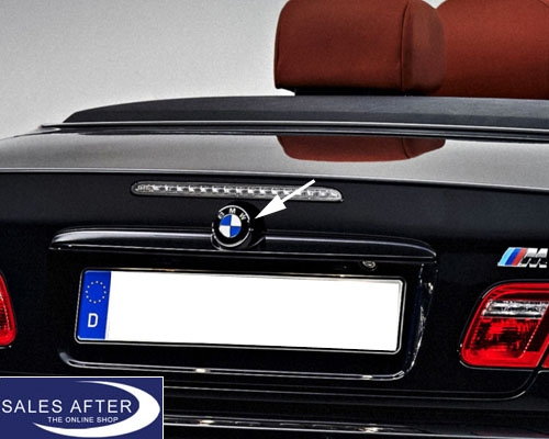 original bmw emblem plakette heckklappe 3er e46 cabrio. Black Bedroom Furniture Sets. Home Design Ideas