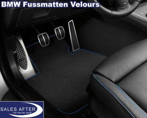 salesafter the online shop bmw 3er e90 und e91 satz fussmatten velours einfassung blau. Black Bedroom Furniture Sets. Home Design Ideas