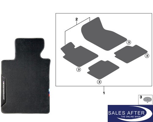 Salesafter The Online Shop Bmw M Performance F87 M2 Set Of Floor Mats Front And Rear